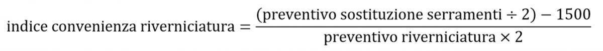 formula convenienza riverniciatura infissi