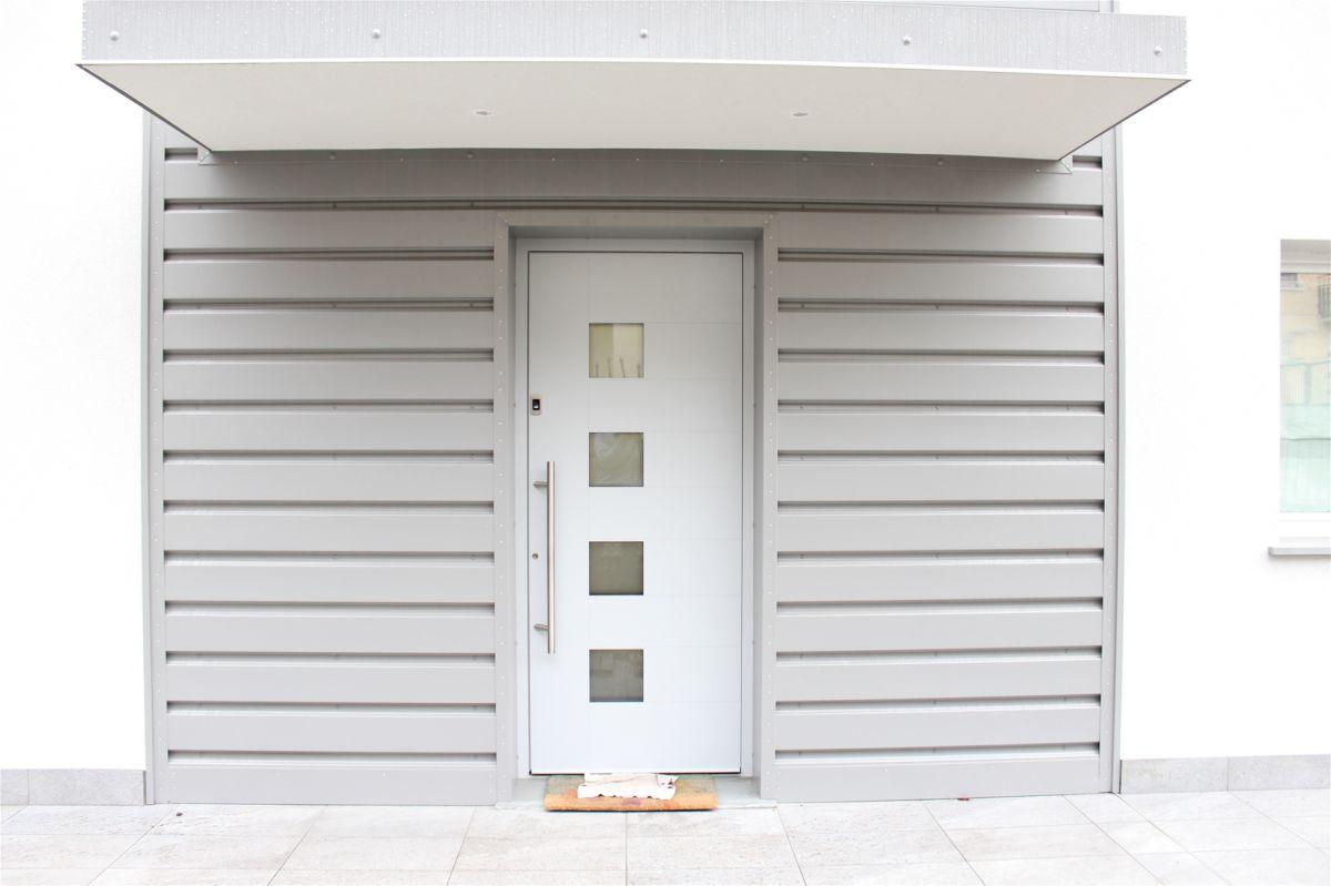 portoncino, ingresso, alluminio